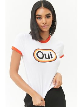Oui Graphic Ringer Tee by Forever 21