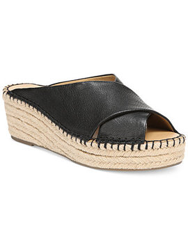 Polina Espadrille Platform Wedge Sandals, Created For Macy's by Franco Sarto
