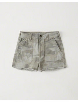Camo High Rise Girlfriend Shorts by Abercrombie & Fitch
