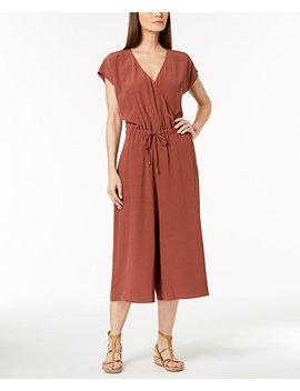 Tencel® Crepe Cropped Wide Leg Jumpsuit, Regular & Petite by Eileen Fisher