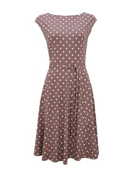 Taupe Midi Jersey Fit And Flare Dress by Wallis