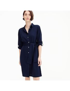 Tall Tie Waist Knit Shirtdress by J.Crew