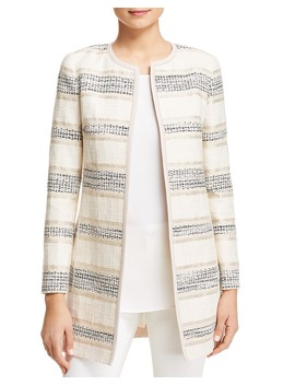 Pria Striped Jacquard Jacket by Lafayette 148 New York