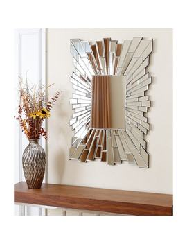 Abbyson Empire Silver Wood Frame Rectangle Wall Mirror by Abbyson