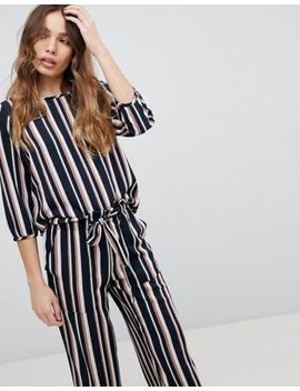 Jdy Printed Stripe Shell Top by Jdy