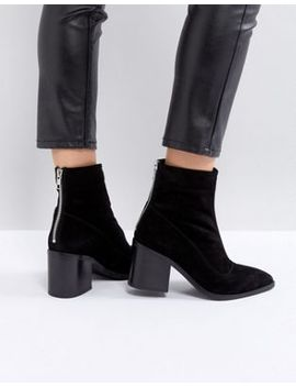 Asos – Roxanna – Spitze Ankle Boots Aus Wildleder by Asos Collection