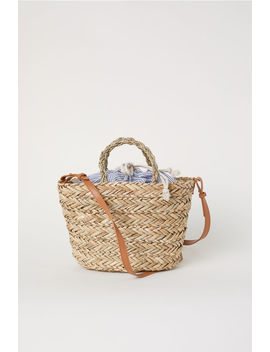 Straw Bag With A Fabric Bag by H&M