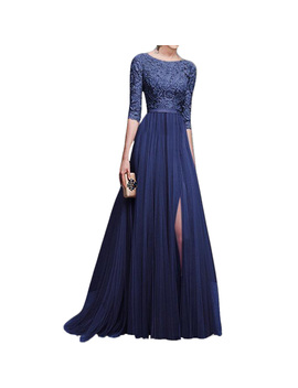Women Lace Long Cocktail Party Evening Formal Wedding Prom Gown Maxi Dress by Unbranded