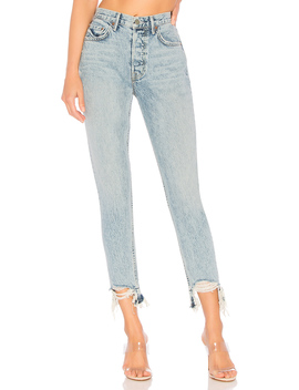 Karolina High Rise Chewed Hem Jean by Grlfrnd