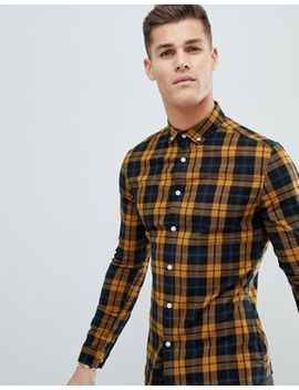 Asos Design Skinny Check Shirt by Asos Design