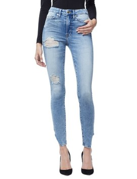 Good Waist Side Triangle Crop Skinny Jeans by Good American