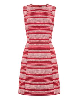 Stripe Tweed Shift Dress by Oasis