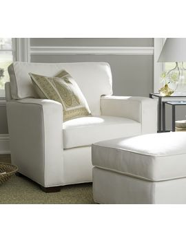 Pb Square Upholstered Armchair by Pottery Barn