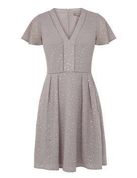 Long Glitter Spot Angel Skater Dress by Oasis