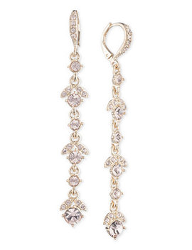 Crystal Linear Drop Earrings by Givenchy