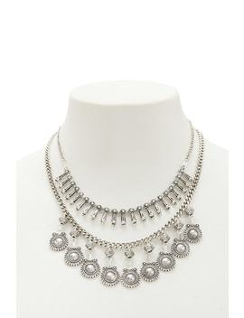 Layered Burnished Statement Necklace by Forever 21