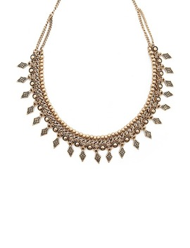 Etched Burnished Necklace by Forever 21