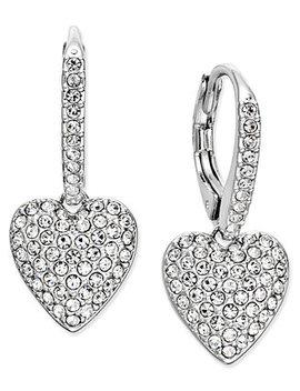 Pavé Heart Drop Earrings, Created For Macy's by Danori