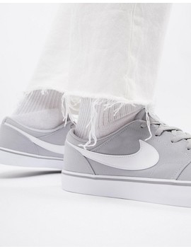 Nike Sb Solarsoft Portmore Ii Trainers In Grey 880268 011 by Nike Skateboarding