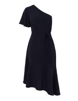 One Shoulder Asymmetric Dress by Warehouse