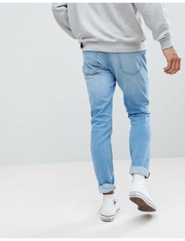Pull&Bear Slim Jeans In Light Blue by Pull&Bear