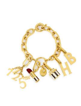 Influencer Heritage Charm Bracelet  Influencer Link Bracelet    712 Charm    Hatbox Charm    Lipstick Charm    Influencer Letter Charm by Henri Bendel