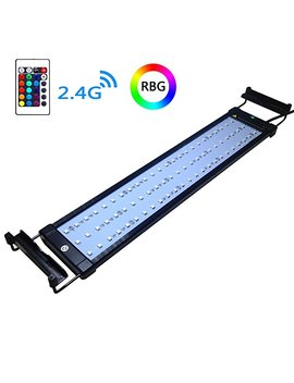 Coodia Aquarium Hood Lighting Color Changing Remote Controlled Dimmable Rgbw Led Light For Aquarium/ Fish Tank, High Quality Extendable Upto 28 Inches (For Fresh And Salt Water) by Amazon