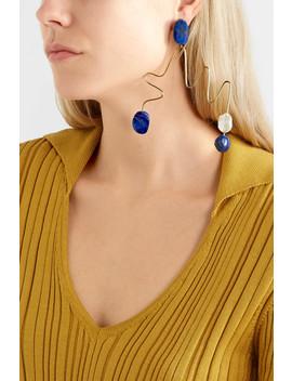 Gold Tone, Jasper And Pearl Earring by Roksanda