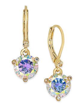 Gold Tone Crystal Drop Earrings by Kate Spade New York