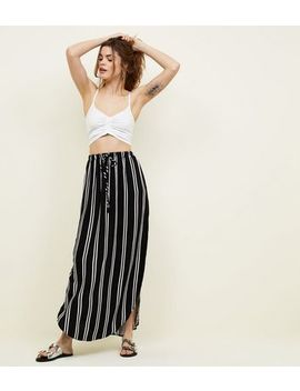 Jdy Black Stripe Maxi Skirt by New Look