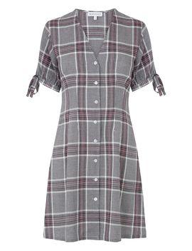 Check Print Tea Dress by Warehouse