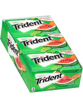 Trident Sugar Free Gum Watermelon Twist, 14 Ct (Pack Of 12) by Trident