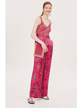 Floral Wide Leg Trousers by Topshop