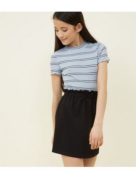 Teens Black Paperbag Waist Skirt by New Look