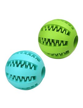 Pet Toy Balls Dog Chew Durable Dog Treat Balls Pack Of 2 by Uyiku