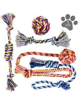 Pets&Goods Dog Chew Toys   Puppy Teething Toys   Dog Toy Set   Rope Dog Toy   Medium And Small Dog Chew Toys   Chew Toys For Dogs   Dog Toy Pack   Washable Cotton Rope For Dogs by Pets&Goods