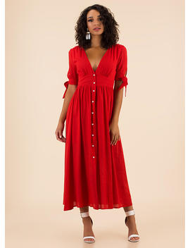 Casual Elegance Button Up Maxi Dress by Go Jane