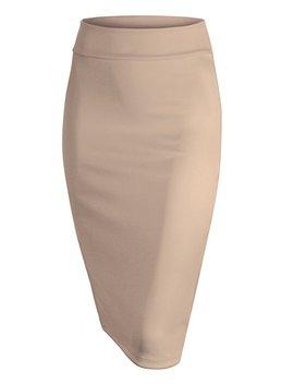 Mbj Wb700 Womens Scuba Midi Skirt Xl Khaki by Amazon