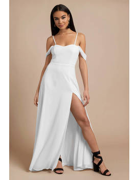 See You Again White Maxi Dress by Tobi