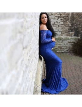 Pregnant Women Wedding Party Maxi Dress Maternity Gown Photography Props Clothes by Unbranded