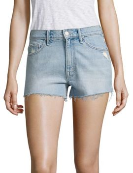 High Waist Looker Ankle Fray Jeans by Mother