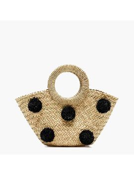 Small Ibiza Tote With Pom Poms by J.Crew
