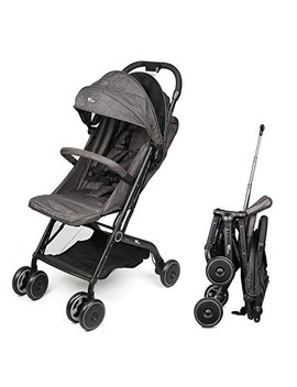 Amzdeal Airplane Lightweight Stroller With Pull Rod Umbrella Stroller One Hand Fold Design Baby Infant Travel Stroller   Black by Amzdeal