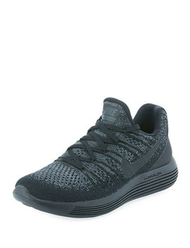 Lunar Epic Low Flyknit 2 Sneaker, Black by Nike