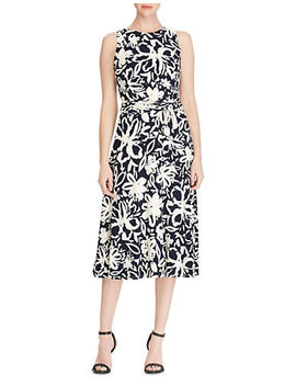 Floral Jersey Fit And Flare Dress by Lauren Ralph Lauren
