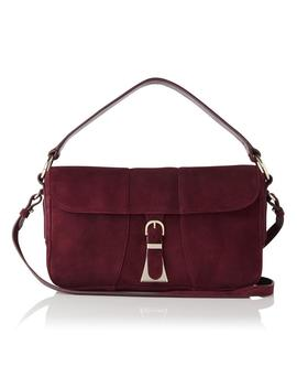 Scarlett Oxblood Suede Shoulder Bag by L.K.Bennett