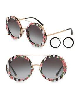 63 Mm Round Sunglasses by Dolce & Gabbana