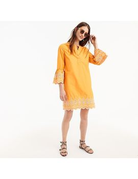 Petite Eyelet Bell Sleeve Dress by J.Crew