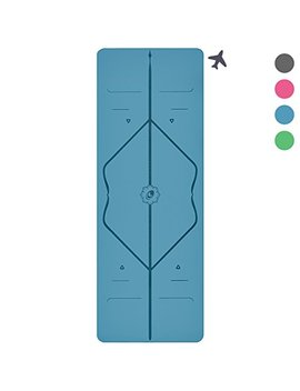 The Liforme Travel Yoga Mat   World's Best Eco Friendly, Light, Portable Non Slip Yoga Mat With Original Alignment Marker System. Available In Grey, Pink, Blue And Green by Liforme