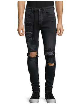 Paisley Destroyed Jeans by Kollar